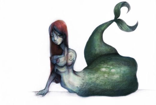 different kind of mermaid by Rowie-Ann