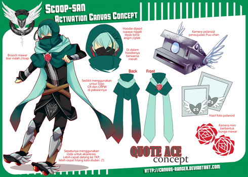 CR: Scoop-san Activation Canvas Contest by hirappon