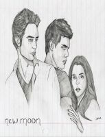 New Moon Poster Sketch by alifsu17