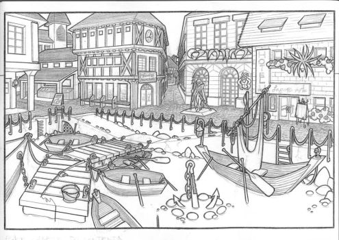 the place du contentin by Nic-animator