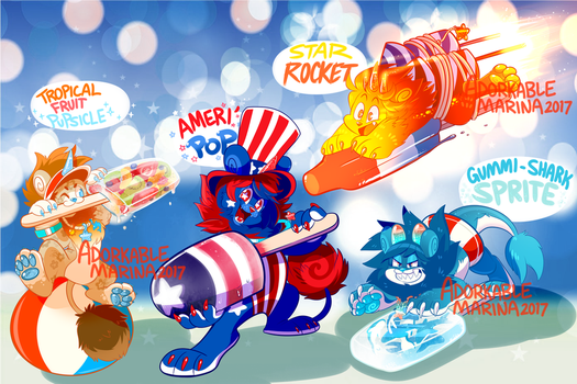 SPECIAL EVENT! FREEDOM Dandy PUPSICLES [CLOSED!] by AdorkableMarina