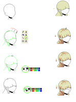 Tutorial pixel hair making2 by battleTbases