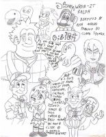 Wreck-It Ralph Sketch by Josiah-Shockency-JCS