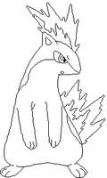 Quilava Outline by Ivysaur98