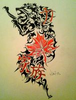 Tribal Tattoo Design: Request by KickinTribalRocker