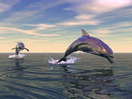 Dolfins - with Bryce and Poser by teckna