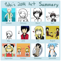 2014 art summary by coco-da-shinigami