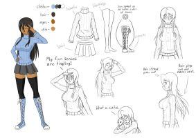 Dia's Style and Ref. Sheet (Edited) by Raphael7