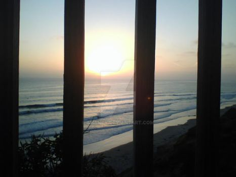 Sunset Behind Bars by Shancy