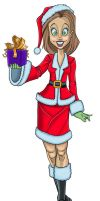 Debbie-Christmas-small by LyleDoucetteArt