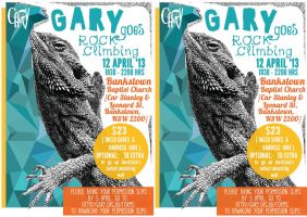 Rock Climbing with Gary Poster by imfromdunman