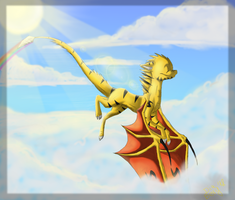 Goldey .:Up The Sky:. by DiaBerry