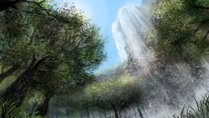 Waterfall Clearing by Vensin