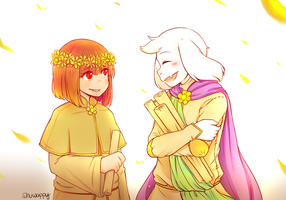 Reapertale - Chara  and Asriel :Pre-corruption: by Shuwappy