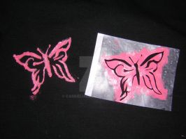 Tee for Me - Stencil Butterfly by carrieluu