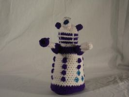 My Little Dalek- Rarity by Country-Geek-Crochet