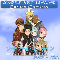 Sword Art Online Extra Edition ICO,PNG & Folde by bryan1213