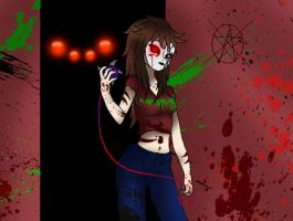 Creepypasta OC Nemesis: Stay out of my Territory by darkangel6021
