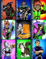 MASS EFFECT FUNNIES TRADING CARDS by bodyslam1975