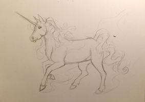 123- Unicorn Sketch by Lucky978
