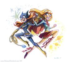 Batgirl Supergirl by potatofarmgirl