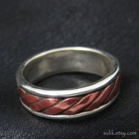 Silver and copper Viking/Celt ring by Sulislaw