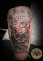 Chicano Chief Cook Skull 2 by 2Face-Tattoo