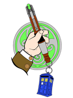 11th Doctor's Sonic by kung-fu-eyebrow