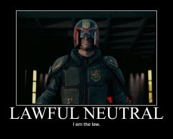 Lawful Neutral Judge Dredd by 4thehorde