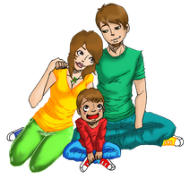 Kanedas happy little family by Juices-Delicacy