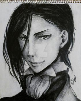 Sebastian Michaelis - Realistic Drawing by artmaker77