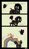Butterfly, grab my tail! by WhiteNoiseGhost