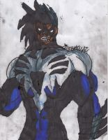 Nightwing Black Lantern Concept by ChahlesXavier