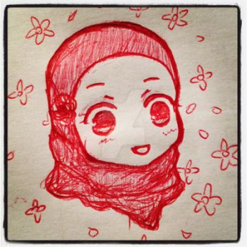 Cute girl with hijaab by Ain392