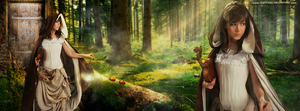 Lindsey Stirling at the Mystical Forest by juztkiwi