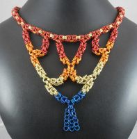nck121 Fire Cascade Necklace by Tarliman