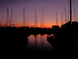 Sunset in the Marina by indybird