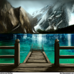 Day 28 - Paint a Background (Pragser Wildsee Lake) by Ode-Chan