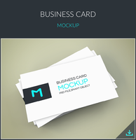 Freebie - Elegant Business Cards Mockup by GraphBerry