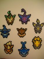 Eevee Evolution Overworld Set (Updated) by RetroNinNin