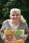 Ingeline and her autumn painting by ingeline-art