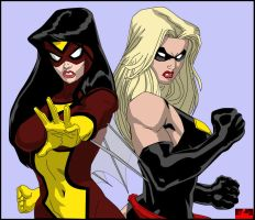 Spider-Woman and Ms. Marvel by hotrod5