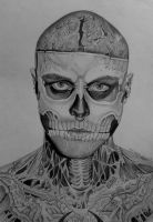 Rick Genest by Thessa-drawings