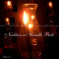 Necklace w Candle Pack by Nekoha-stock