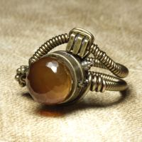 Steampunk ring Butterscotch by CatherinetteRings