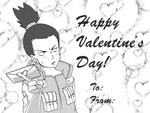 Valentine's card to fans of Shikamaru by TantanChu