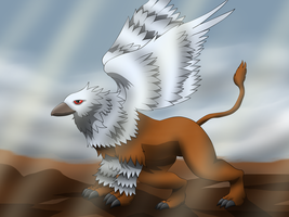 Saphira: Griffin of truth by PhoenixWulf