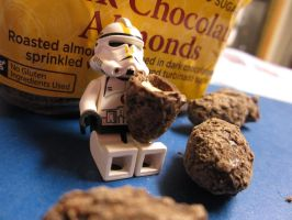Troopers and Their Dark Chocolate Almonds by thelittletrooper