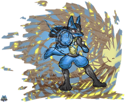 Lucario Charged by GamefreakDX