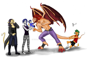 Attack of the Infern Siblings by SironaBennet